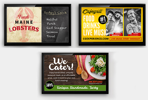 Wide Variety of Restaurant Signage Templates