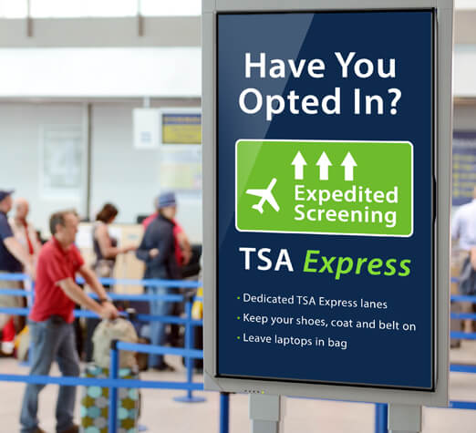 Digital Signage in Airports
