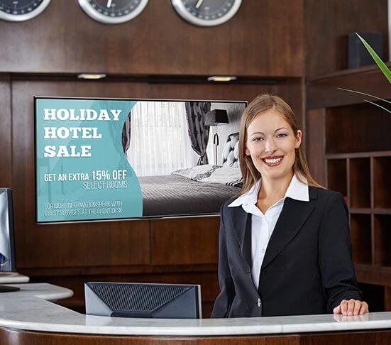 Hotel Sale Digital Signage